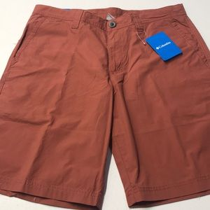🆕 COLUMBIA Mens 34 Red Cotton Shorts